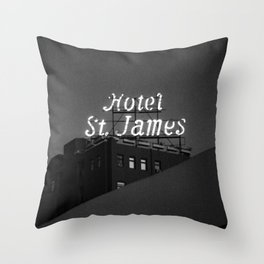 The Historic Hotel St. James Throw Pillow