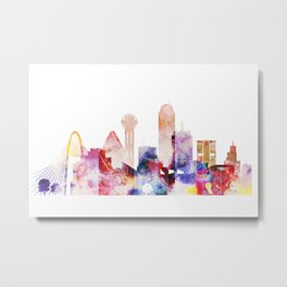 Dallas Texas City Pink Skyline Poster Metal Print