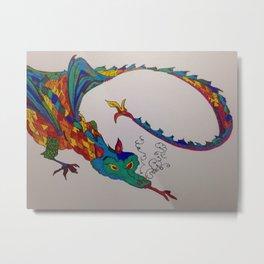 Friendly-ish Dragon Metal Print