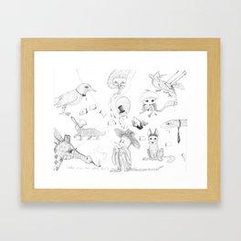 Iconic zoo Framed Art Print
