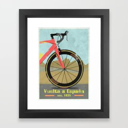 Vuelta a Espana Bike Framed Art Print
