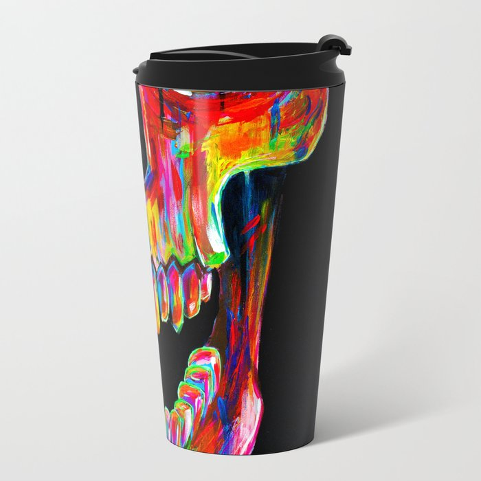 Chromatic Skull Travel Mug
