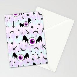 Pastel Melt Winged Eyes Stationery Cards