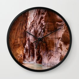 The Narrows Zion National Park Utah Wall Clock