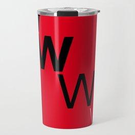 Illustrated new year wishes: #7 LOSE WEIGHT Travel Mug