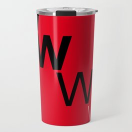 Illustrated new year wishes: #7 LOSE WEIGHT Travel Mug