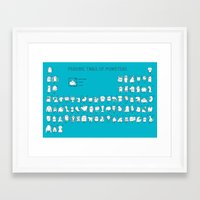 chemistry Framed Art Prints featuring Monstrous Chemistry by maudie&ma