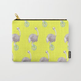 Ostrich on Monocycle Carry-All Pouch