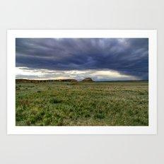 Pawnee Buttes Cloudscape Art Print
