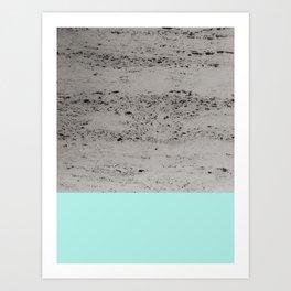 Bright Mint on Concrete #1 #decor #art #society6 Art Print