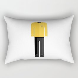 Fictional Vulcan Captain Character Minimal Sticker Rectangular Pillow