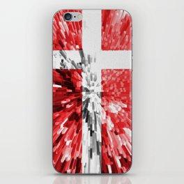 Extruded Flag of Denmark iPhone Skin