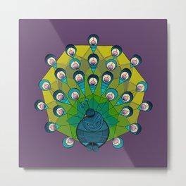 a peacock for krystee Metal Print