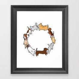 Social Circle Framed Art Print