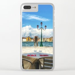 Lunch in Giudecca Clear iPhone Case