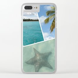Caribbean Photo Collage - Isla Saona Clear iPhone Case