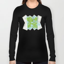 Totally Inaccurate Map of Gifford Pinchot State Park Long Sleeve T-shirt