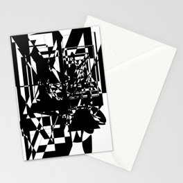 Black and white glass and mirrors Stationery Cards