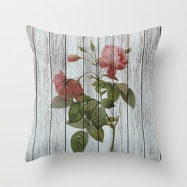 Chabby chic rose 2 Throw Pillow