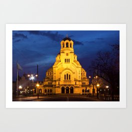 Cathedral church Saint Alexandar Nevsky in Sofia, Bulgaria Art Print