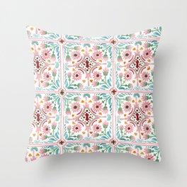 Moroccan Tile Pattern Throw Pillow