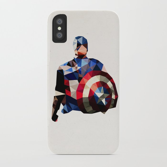 brand new 0a2d9 8a60d Polygon Heroes - Captain America iPhone Case by theblackeningco