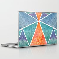 ale giorgini Laptop & iPad Skins featuring Pyramids of Giza by Pom Graphic Design
