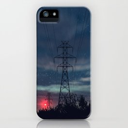 High Voltage Night iPhone Case