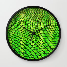 Green Brick Road Wall Clock