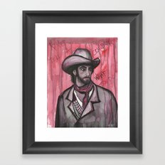 Never Tell A Cowboy What To Do Framed Art Print