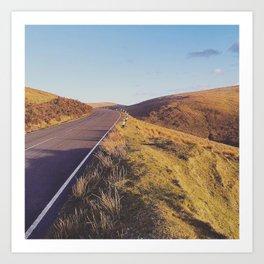 Mountain Road, TT Isle of Man. Art Print