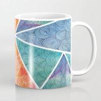 ale giorgini Mugs featuring Pyramids of Giza by Pom Graphic Design