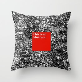 ABSTRACT CERTIFIED Throw Pillow