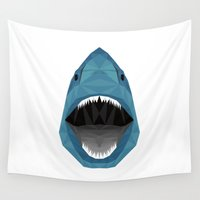 shark Wall Tapestries featuring Shark by ANNiCK