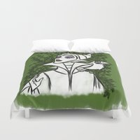 maleficent Duvet Covers featuring Maleficent by carotoki art and love