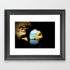 Inside looking Out to the Great Southern Ocean Framed Art Print
