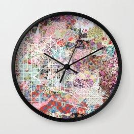 Boise map Wall Clock