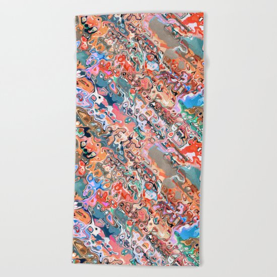 Colorful Textured Abstract  Beach Towel