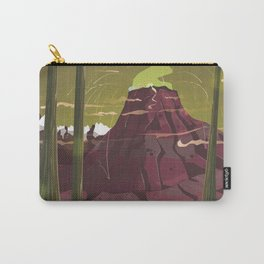 Erupting Volcano in the Swamp Cartoon Carry-All Pouch