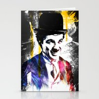 charlie chaplin Stationery Cards featuring charlie chaplin by manish mansinh