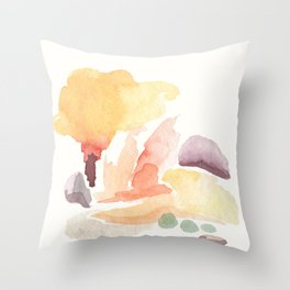 Orange Fluffiness Throw Pillow
