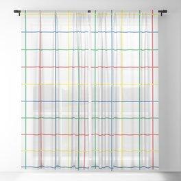 Primary Windowpane Grid Sheer Curtain