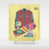 delorean Shower Curtains featuring Must Happen 2015 V2 by Sitchko Igor