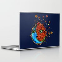 sun and moon Laptop & iPad Skins featuring Sun-Moon by Aubree Eisenwinter