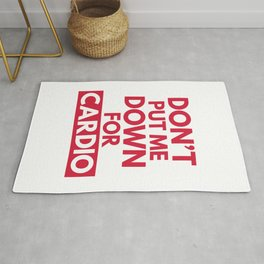 Down for Cardio Funny Gym Quote Rug