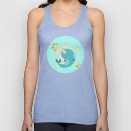 Pretty Princess Narwhal Unisex Tank Top