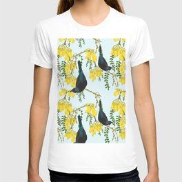 Tuis in the Kowhai Flowers T-shirt