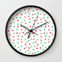 Happy Dots Wall Clock