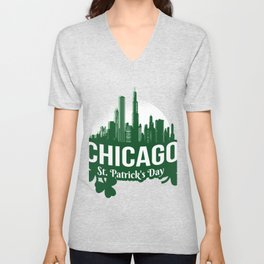 Chicago St. Patrick's Day Unisex V-Neck