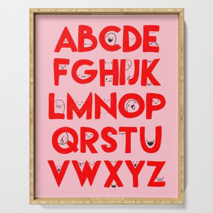 Alphabet Faces Serving Tray